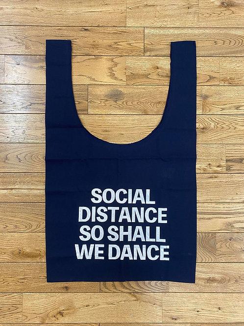 (紺)SOCIAL DISTANCE SO SHALL WE DANCEマルシェバック