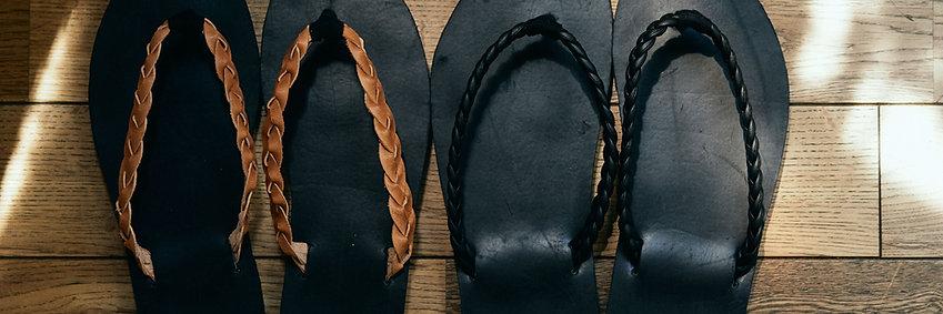 """オーダー""""自分のヨガマットでサンダルを作る"""" satanama sandal """"SUN"""" basic BLK"""
