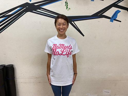 予約受付中 M size】NO MEETS NO LIFE  Tシャツ/ FP・PNK