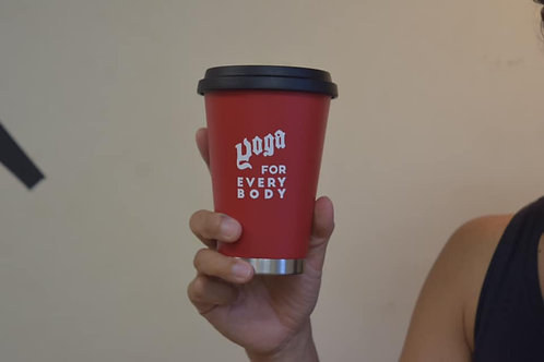 thermo mug x YOGA FOR EVERY BODYロゴMUG