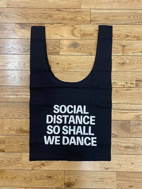 (黒)SOCIAL DISTANCE SO SHALL WE DANCEマルシェバック