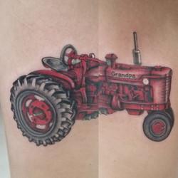 Tractor - memorial tattoo