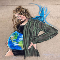 Lakewood Earth Day Event 2021 Chalk 7.5 ft x 4.5 ft