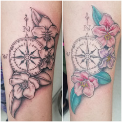 Flower and Compass