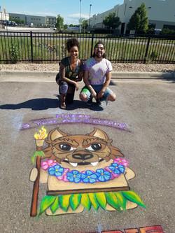 Amazon Den5 Chalk Art 7ft tall