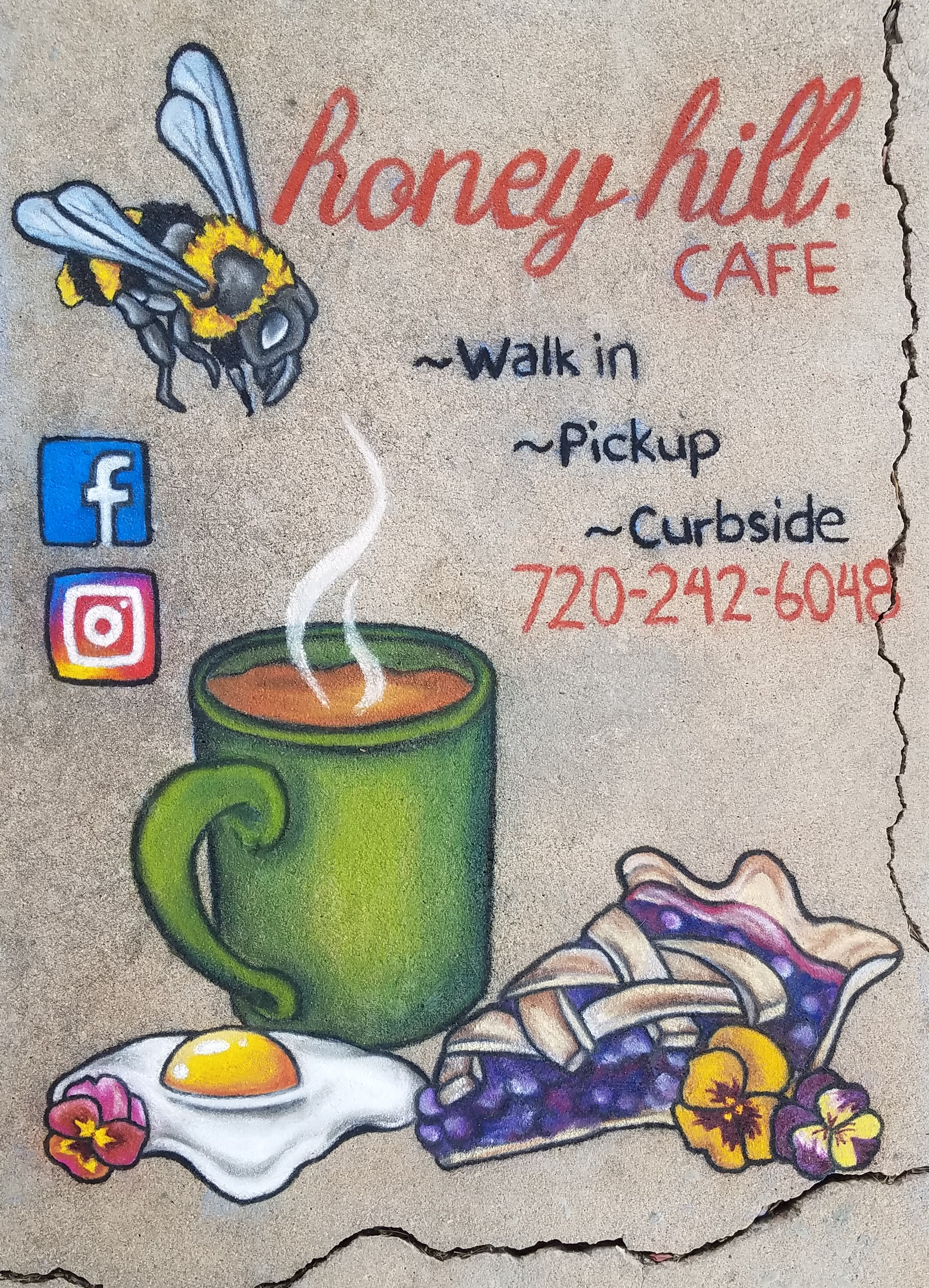 Honey Hill Cafe Chalk Promo