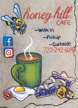 Honey Hill Cafe Chalk Promo