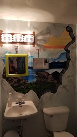 Blue Door Mural WIP