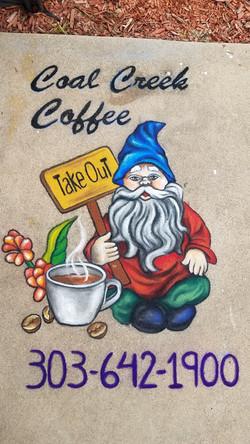Coal Creek Coffee Chalk Promo