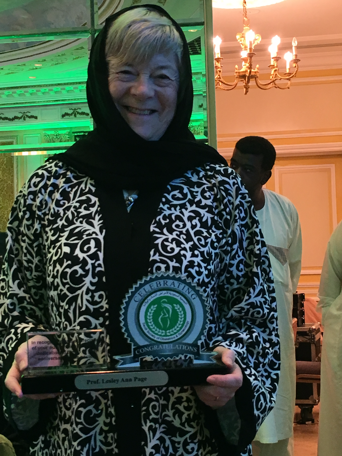 Dr. Lesley : Honored to be awarded