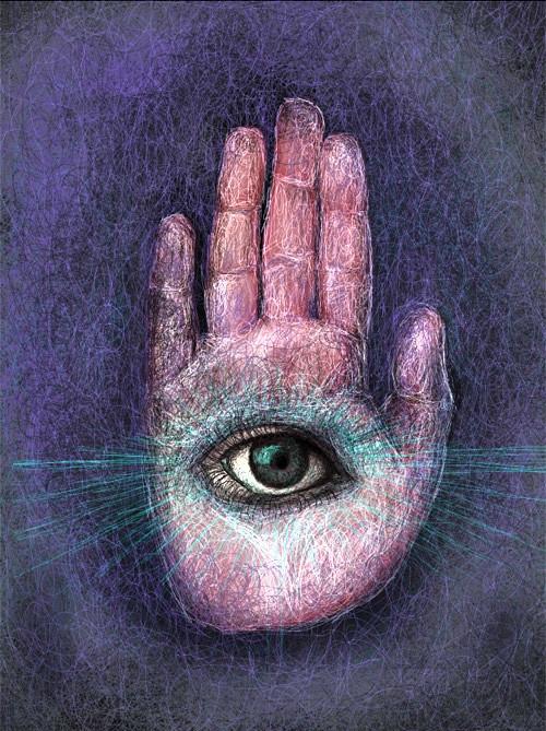 Eye in the hand. Source: darkfiber.com