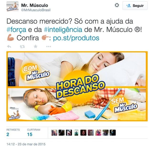 Propaganda do Mr. Músculo de 2015. Viés inconsciente.
