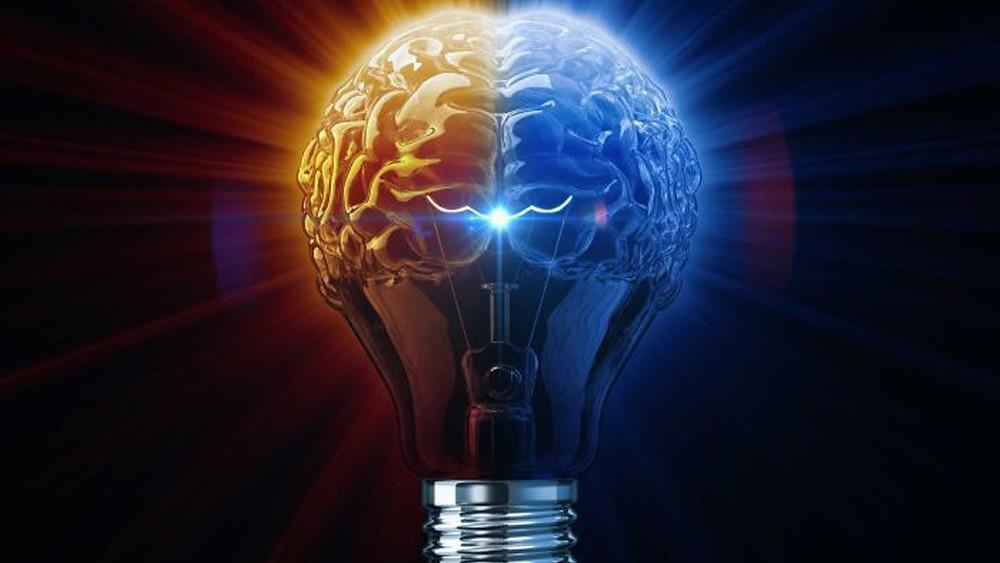 Cérebro e luz. Fonte: fractalenlightenment
