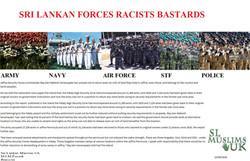 Sri Lankan Forces Racists Bastards