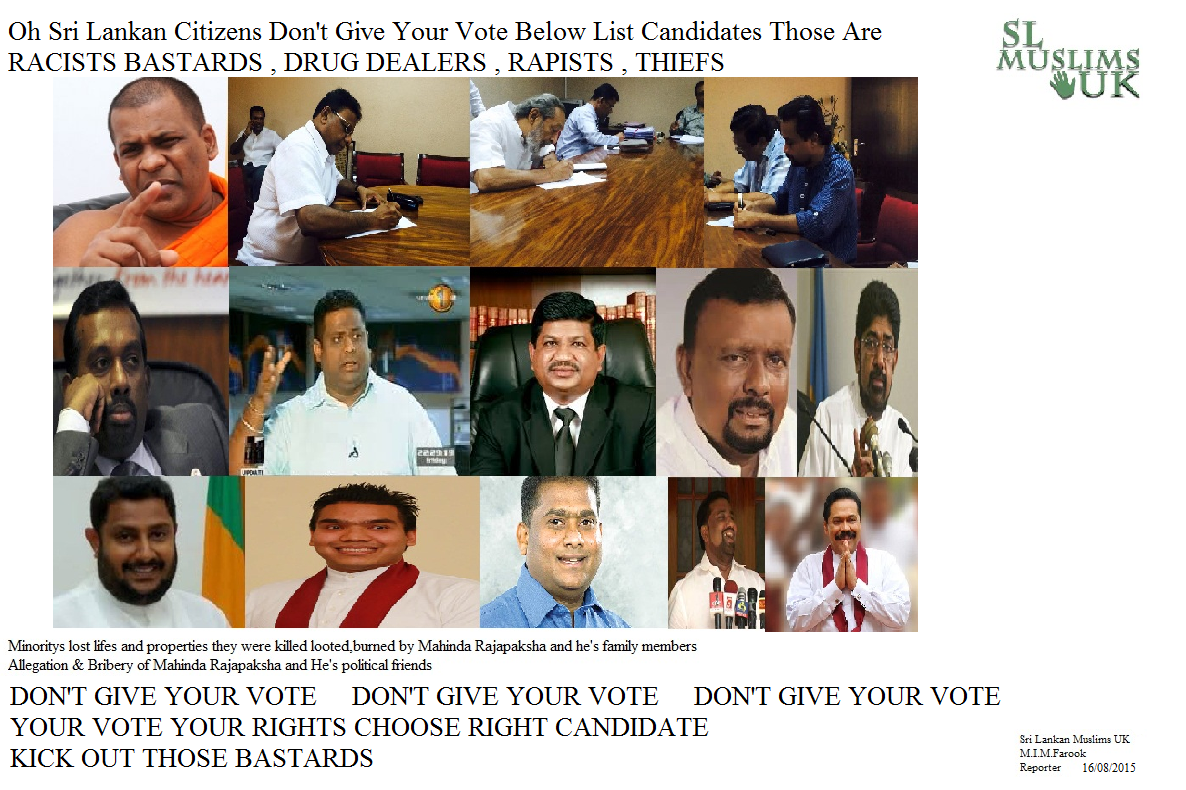 Don't give your vote protect Sri Lan