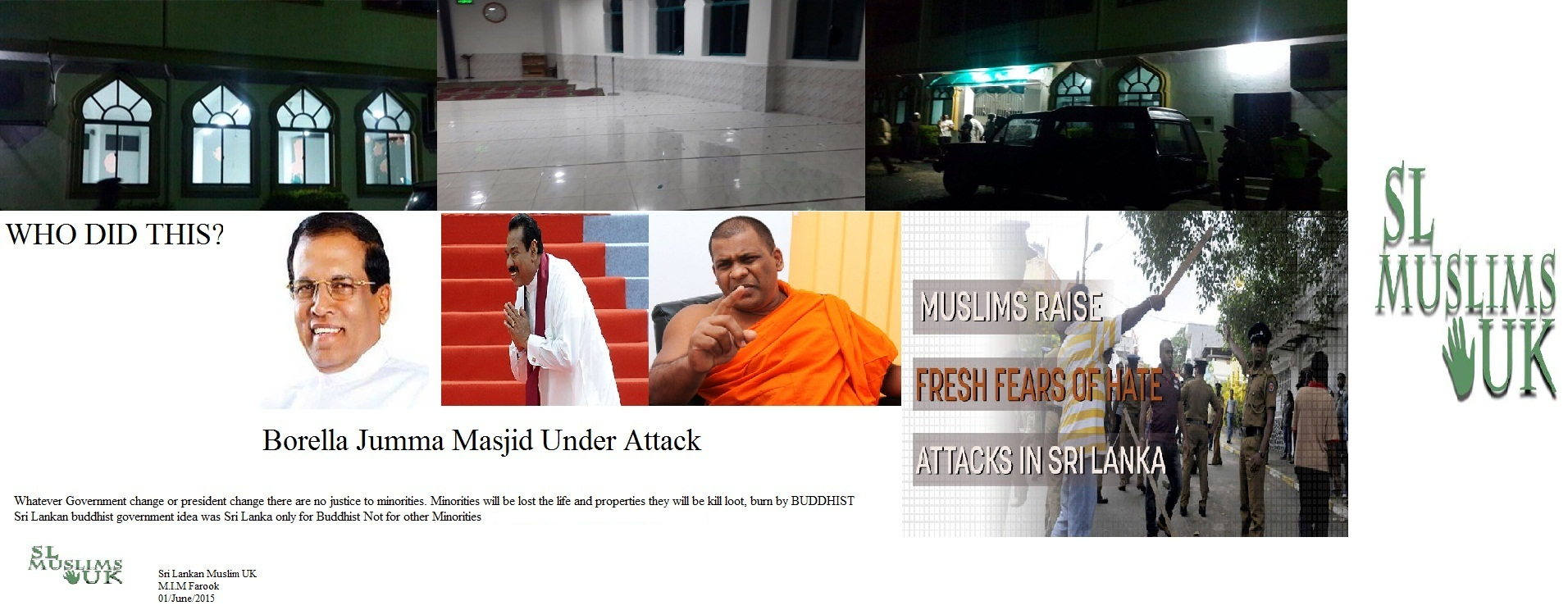 Sri Lankan Muslims Under Attack