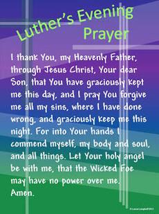 Martin Luther's Evening Prayer