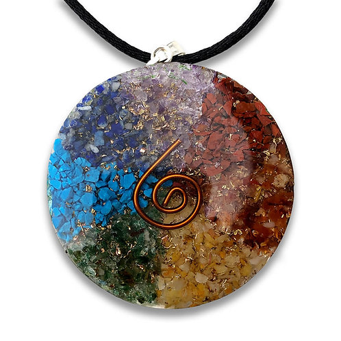 Energy Card Orgone Gems Pendant