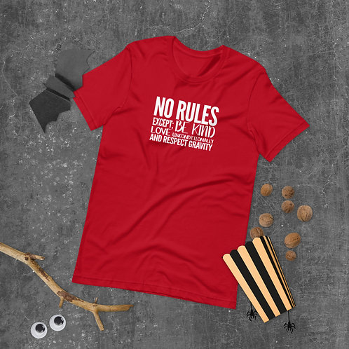 No Rules Except; Be Kind, Love Unconditionally, and Respect Gravity T-Shirt