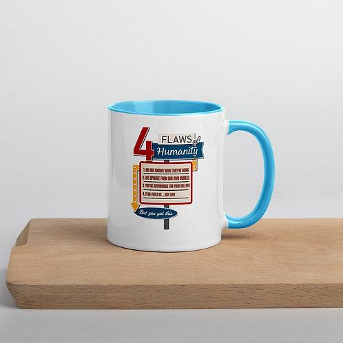 4-Flaws of Humanity Main Sign Mug