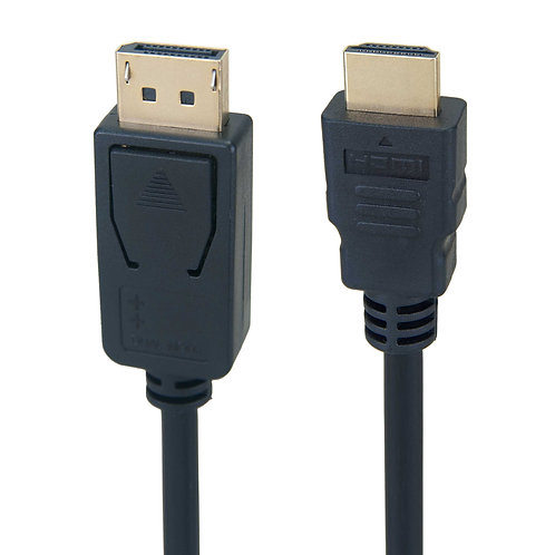 DisplayPort 1.2 to HDMI Supporting VR / 3D / 4K, Black Cable,Gold Plated