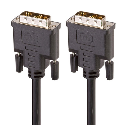 DVI-D Dual-Link(24+1) Male to Male 28AWG Cable w/ Ferrite Cores,Gold Plated,