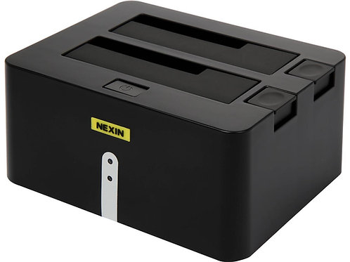 "NEXIN NEX-DS2U3 2.5"" & 3.5"" Black Dual Bay SATA I/II/III USB 3.0 Docking Station"