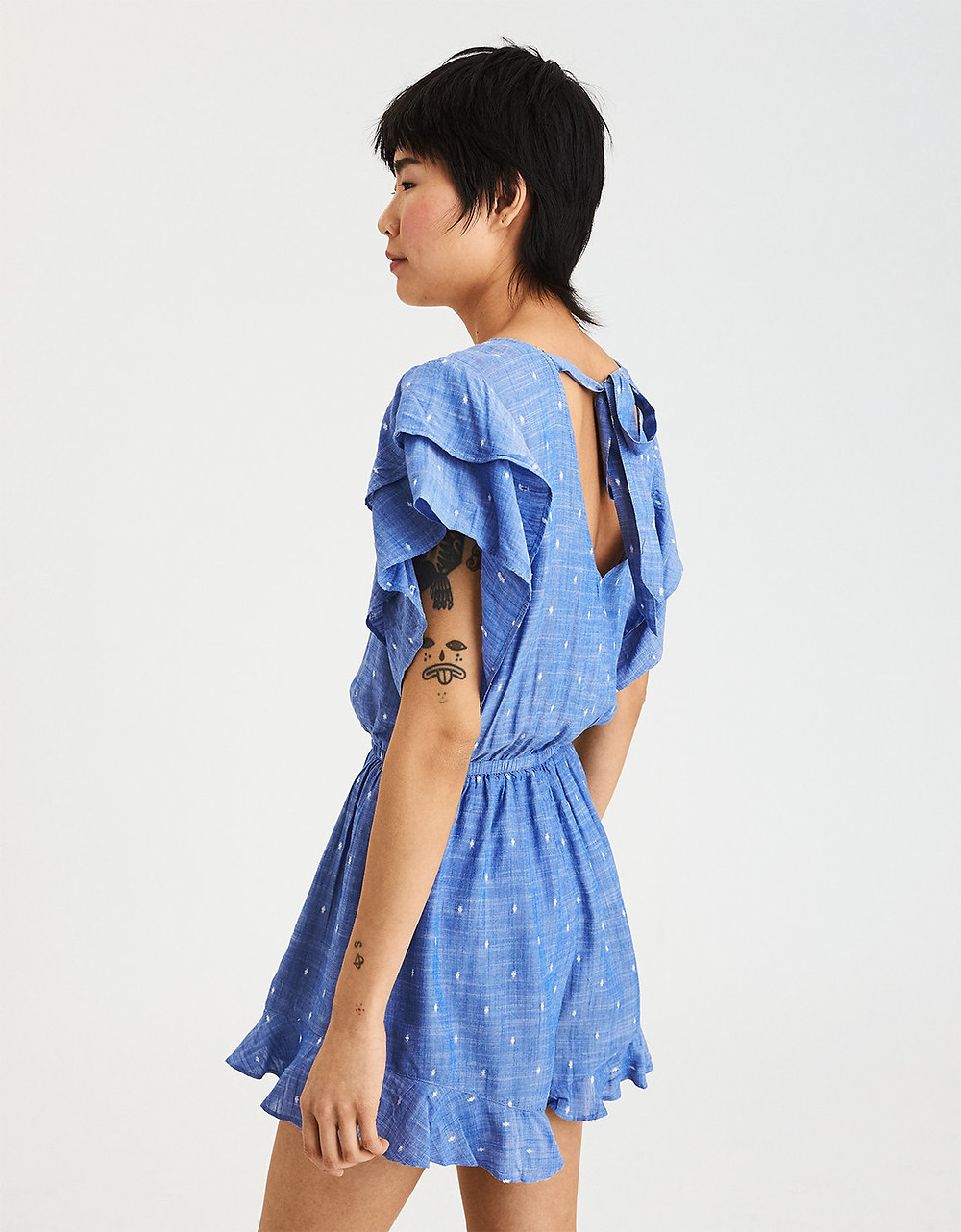 AE TIE BACK WRAP FRONT ROMPER - $49.95