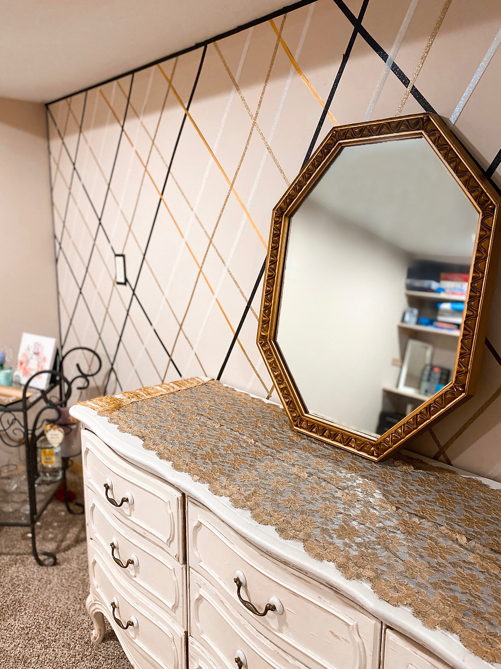 abby graf, the bleached curl, gold mirror, interior design