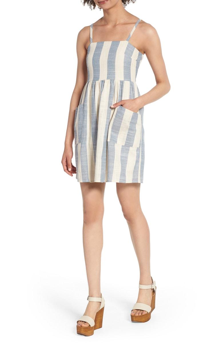 Striped Cotton Sundress - $49