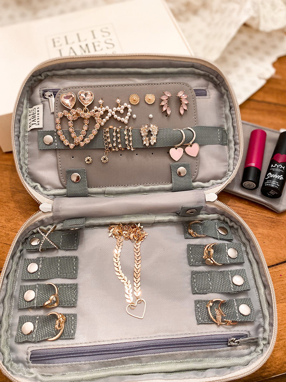 Ellis James Designs Jewelry Bag, The Bleached Curl, Abby Graf