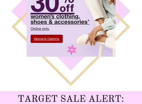SALE ALERT: All Target Clothing & Accessories 30% Off
