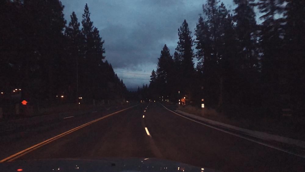 south lake tahoe at night