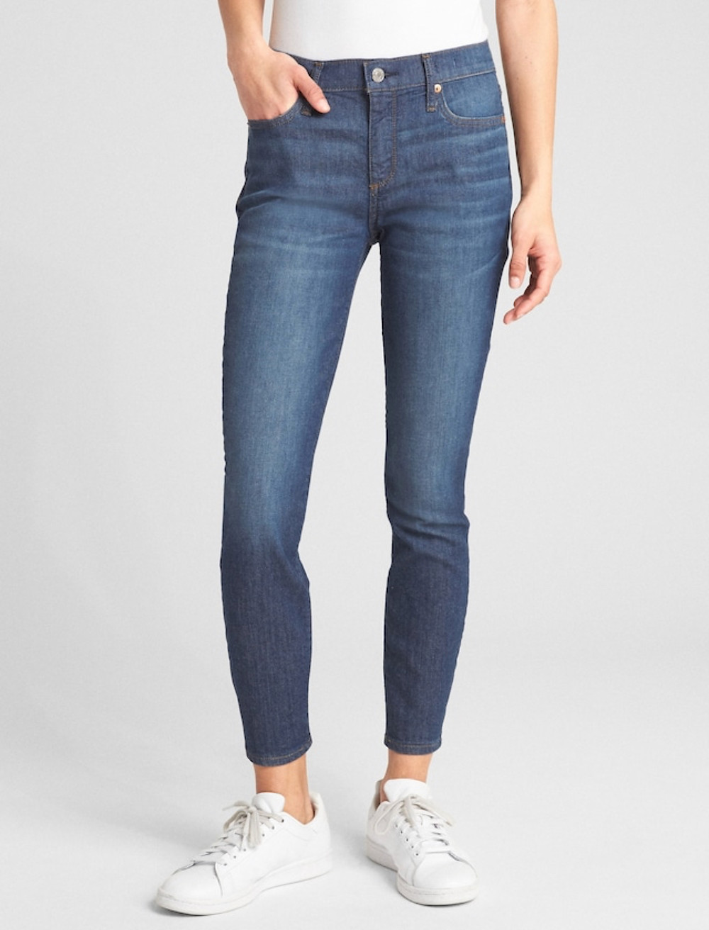 Wearlight mid rise true skinny ankle jeans