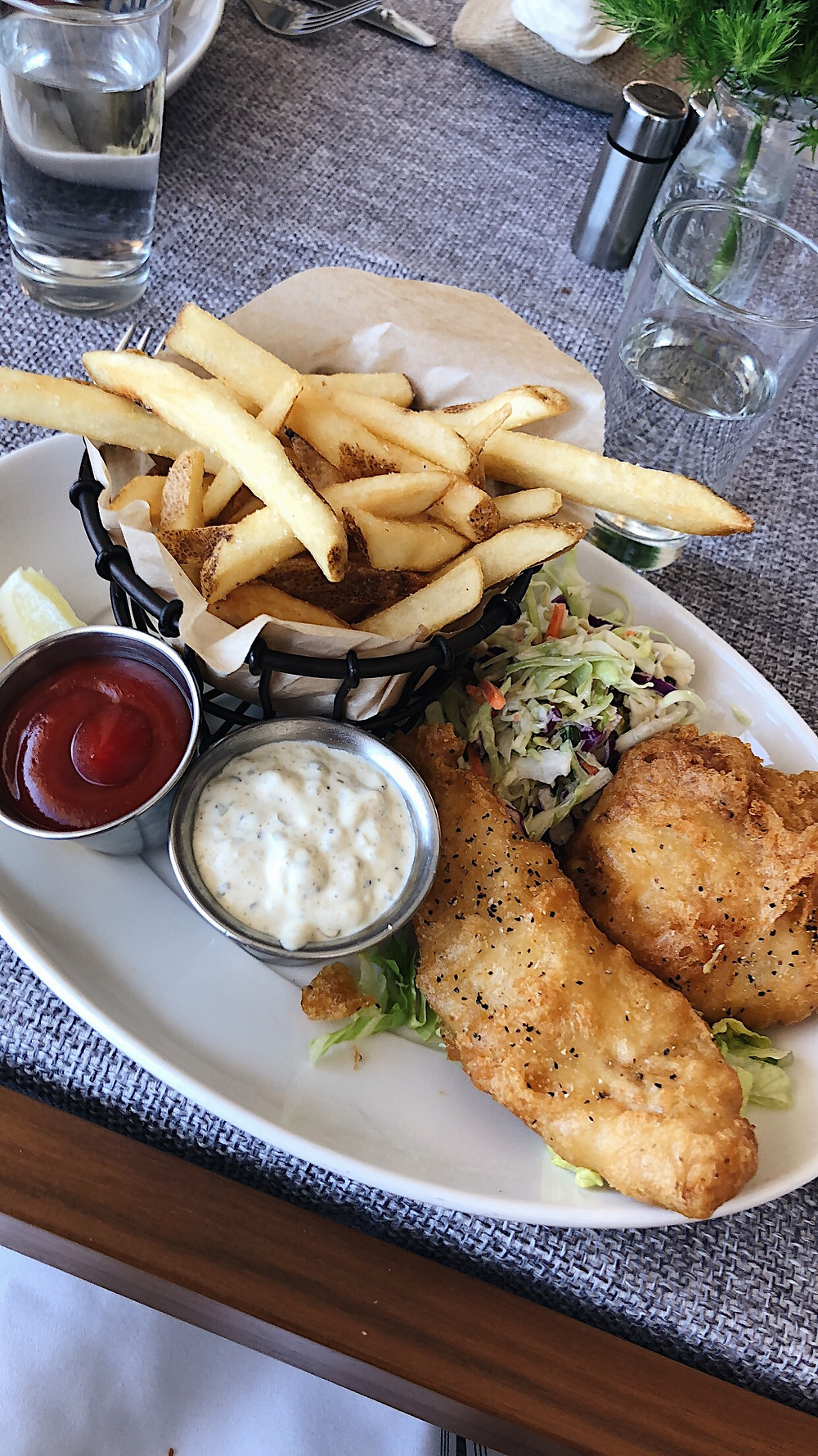 fish and chips from the grotto