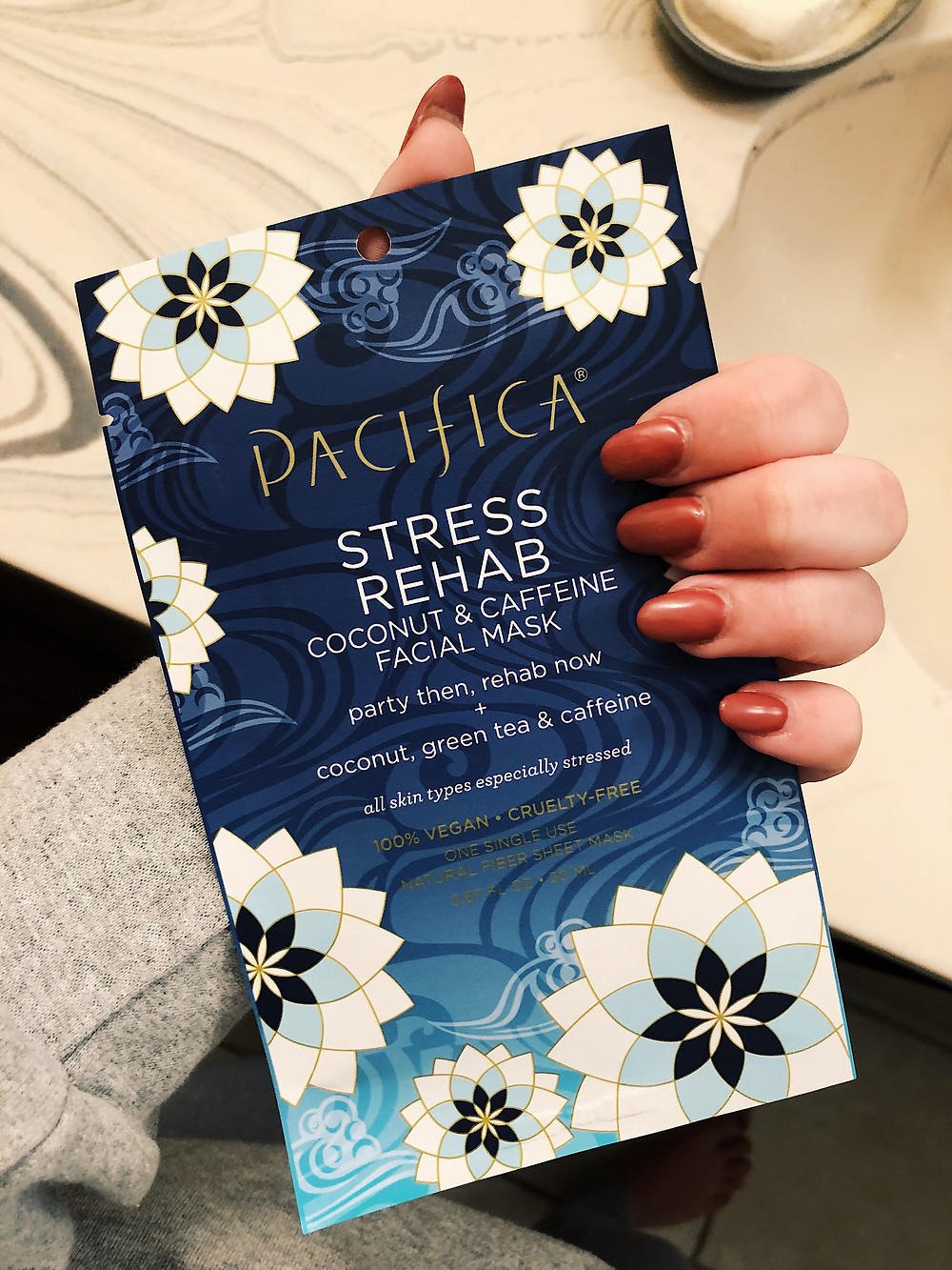 pacifica stress rehab sheet mask