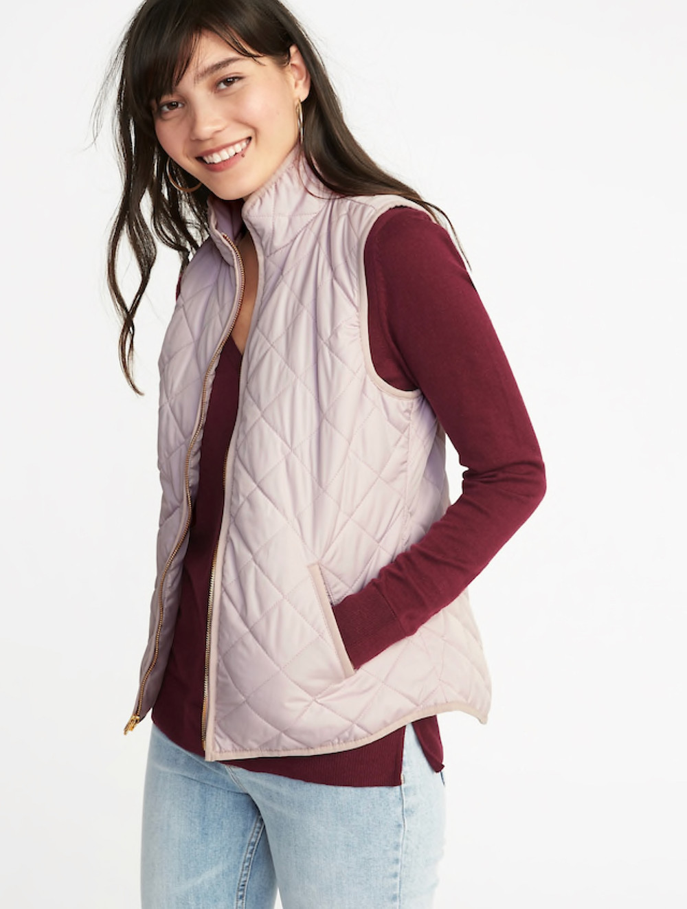 Lightweight Quilted Vest for Women