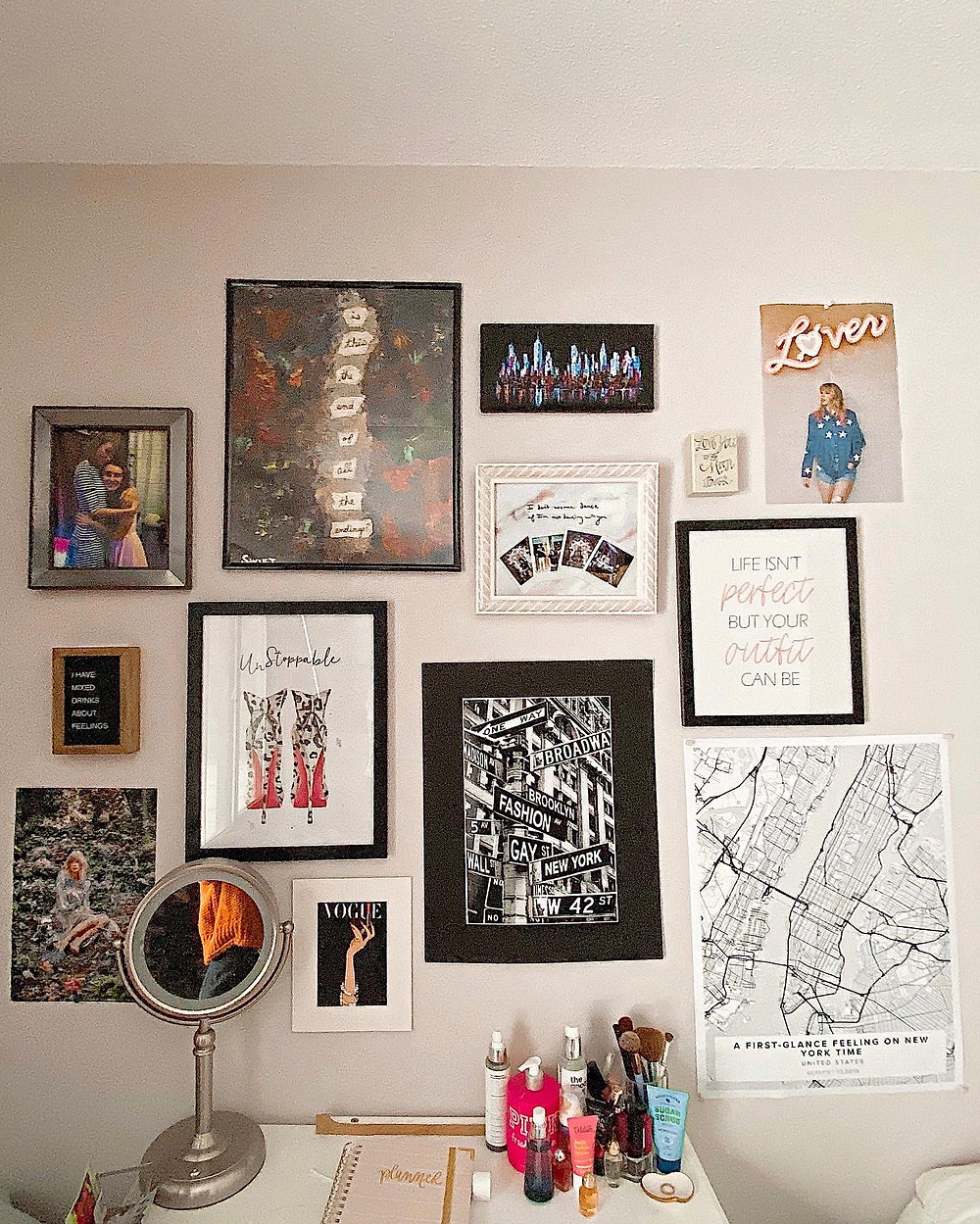 A gallery wall created by Abby Graf - The Bleached Curl