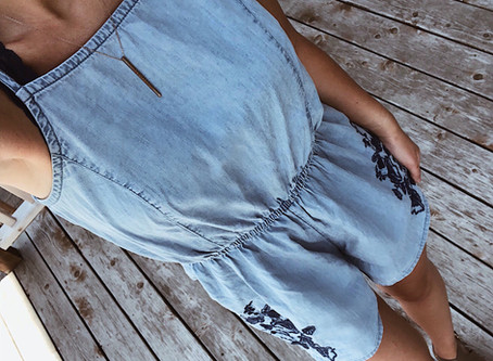 15 Chambray Rompers Perfect for Capturing that Chic Summer Blue