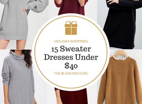 15 Sweater Dresses Under $40 for the Perfect Holiday Look