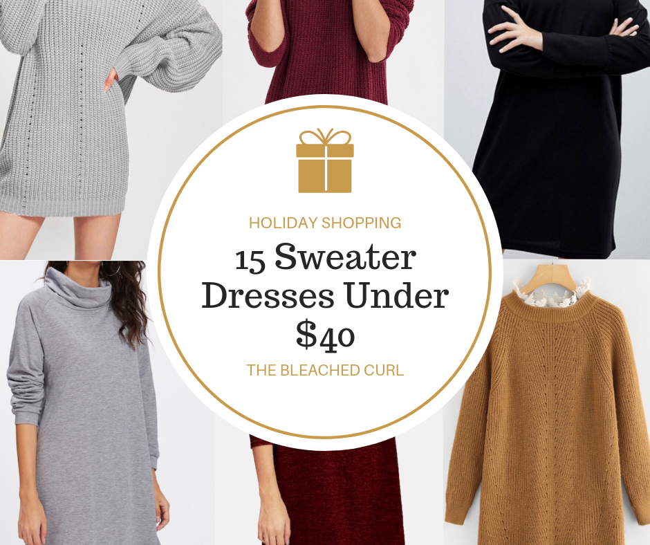 15 holiday sweater dresses under $40