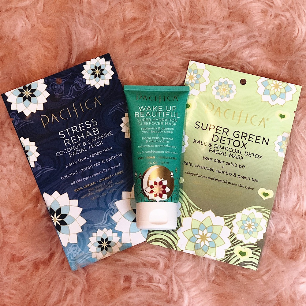 pacifica beauty sheet masks and sleepover mask