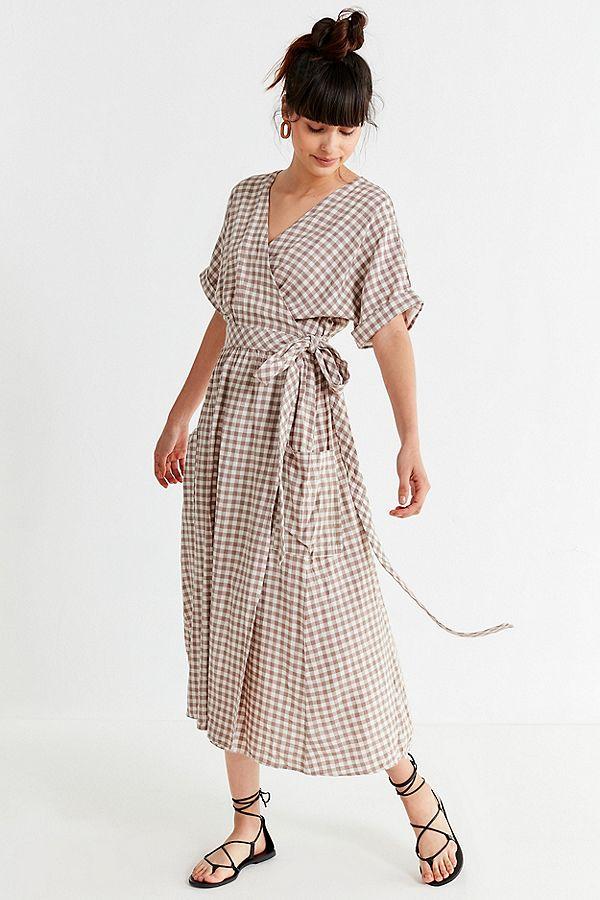 Gabrielle Linen Midi Wrap Dress- $79