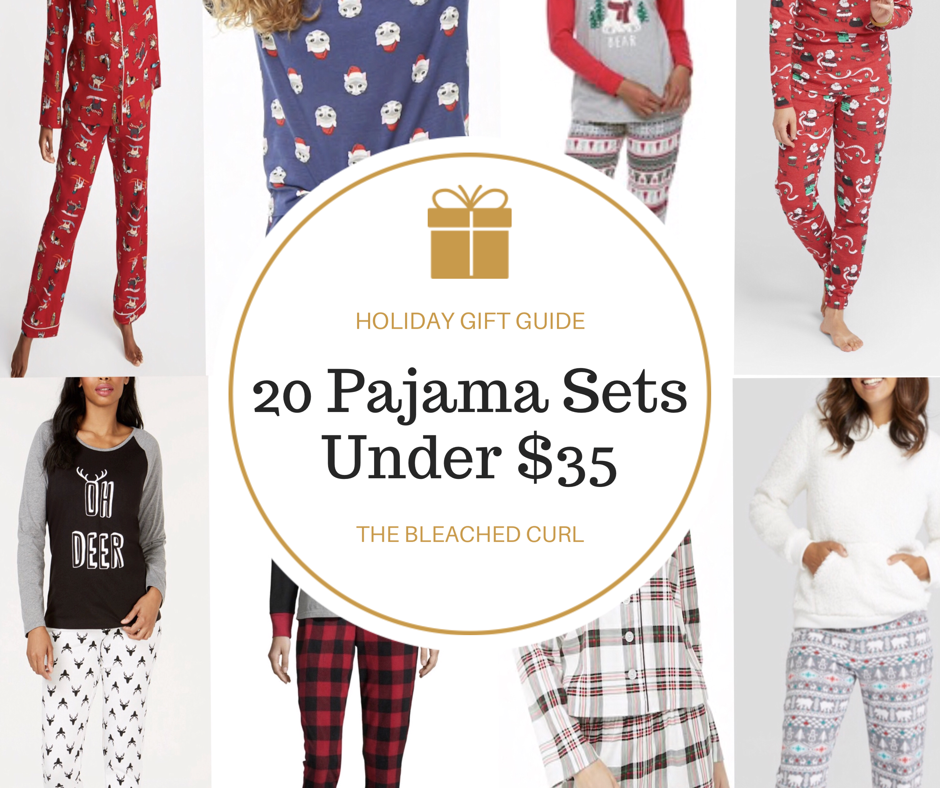 20 Pajama Sets Under $35, christmas gift, holiday gift guide, holiday shopping, christmas shopping