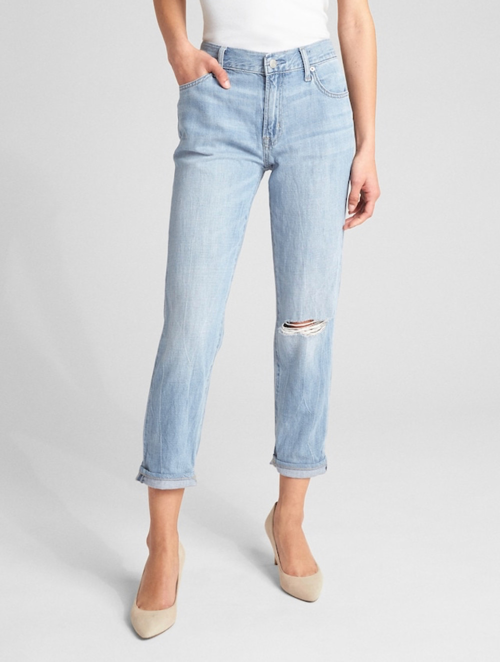 Wearlight Mid Rise Best Girlfriend Jeans Gap