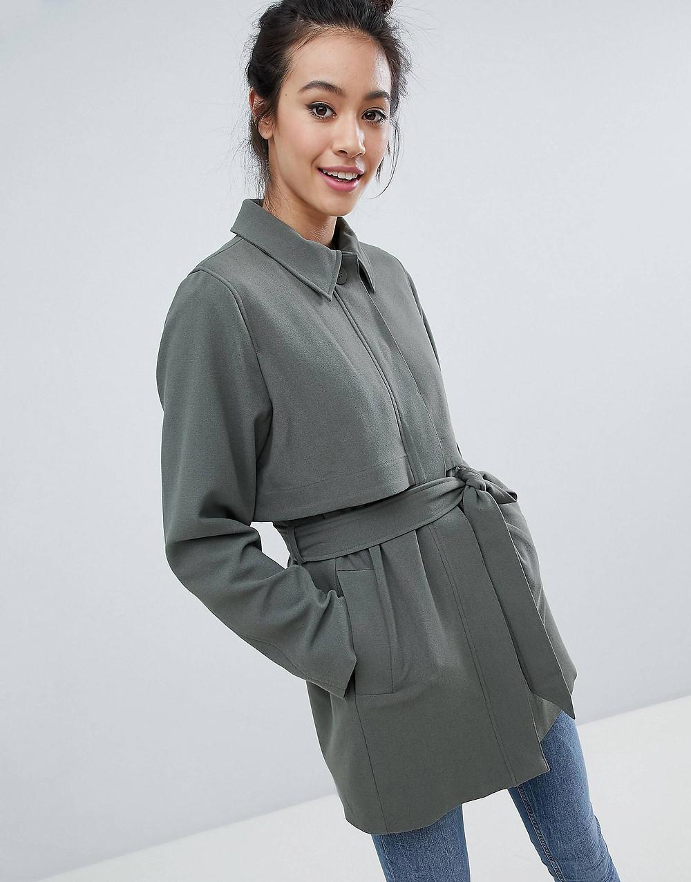 Monki 2 Part Button Up Coat