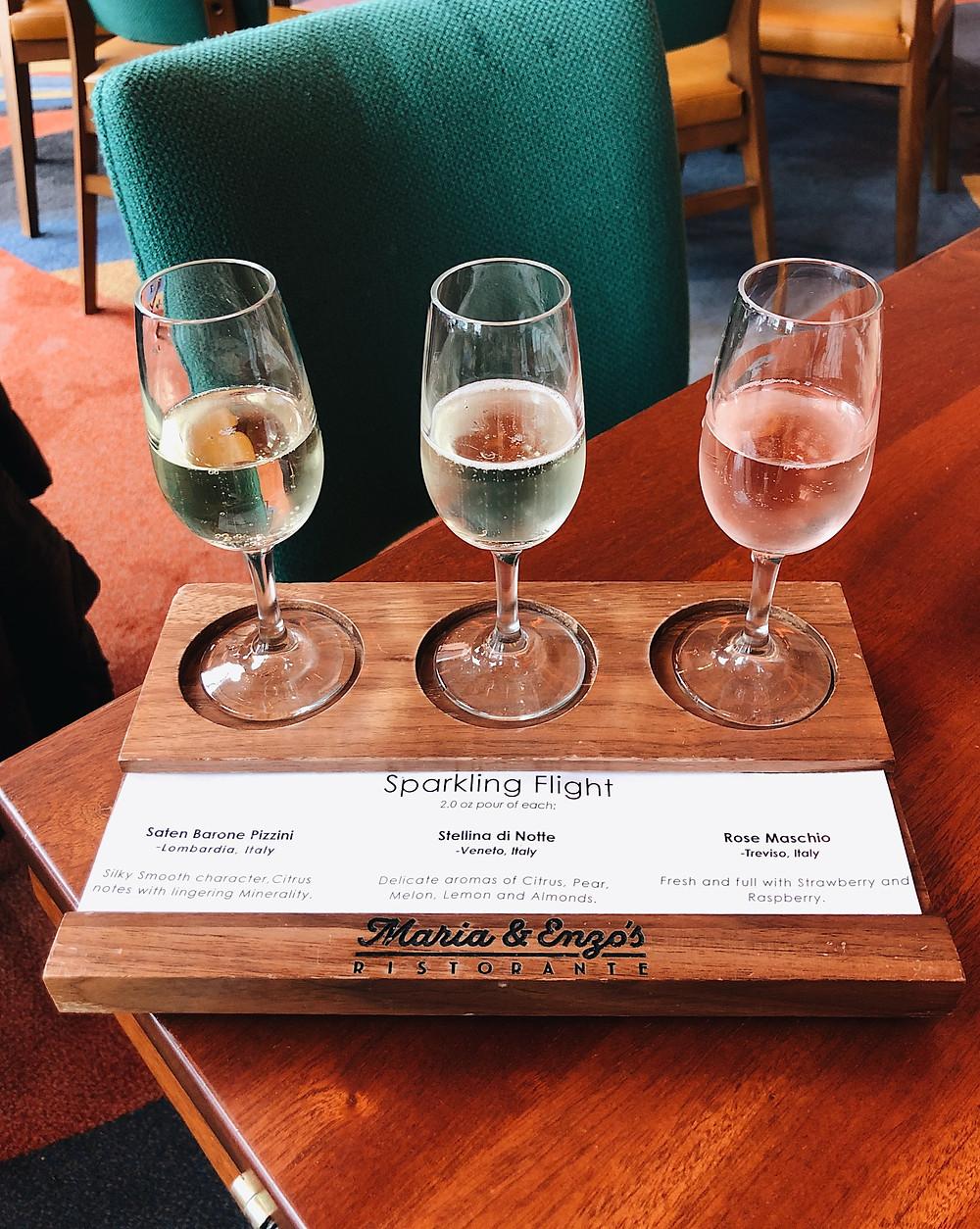 Maria & Enzo's Wine Flight, Abby Graf 2019