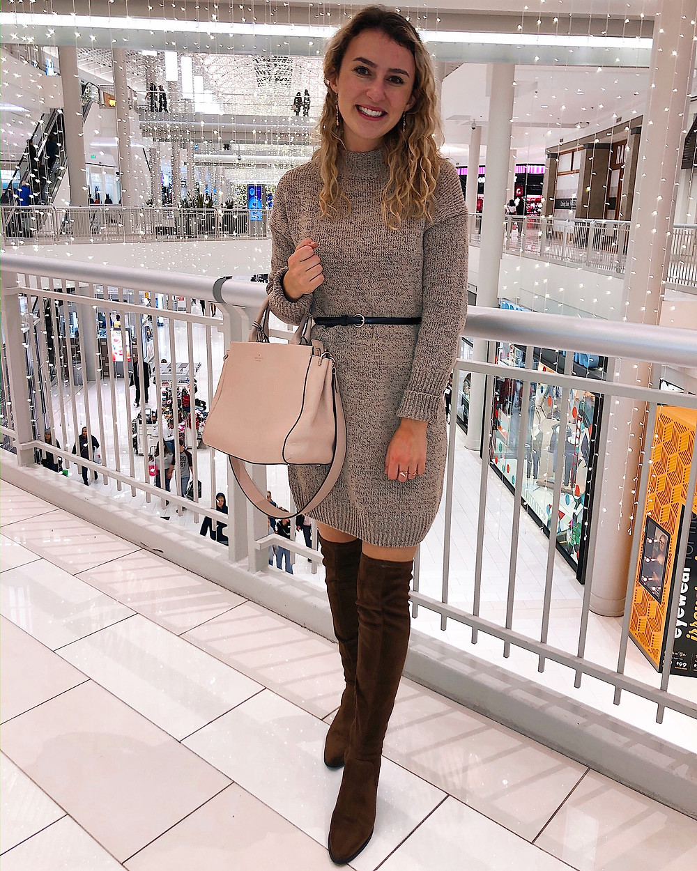 Abby Graf, the Bleached Curl, over the knee boots, otk boots, outfit inspiration, winter outfit