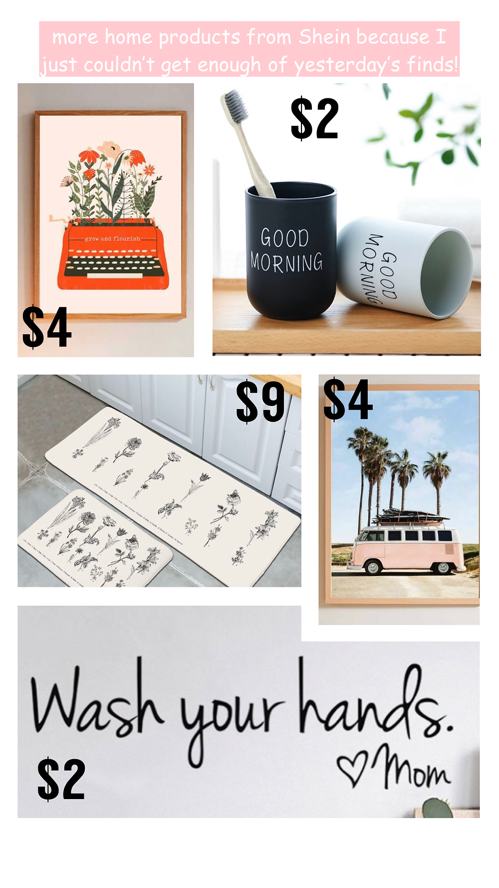 Affordable home decor from Shein