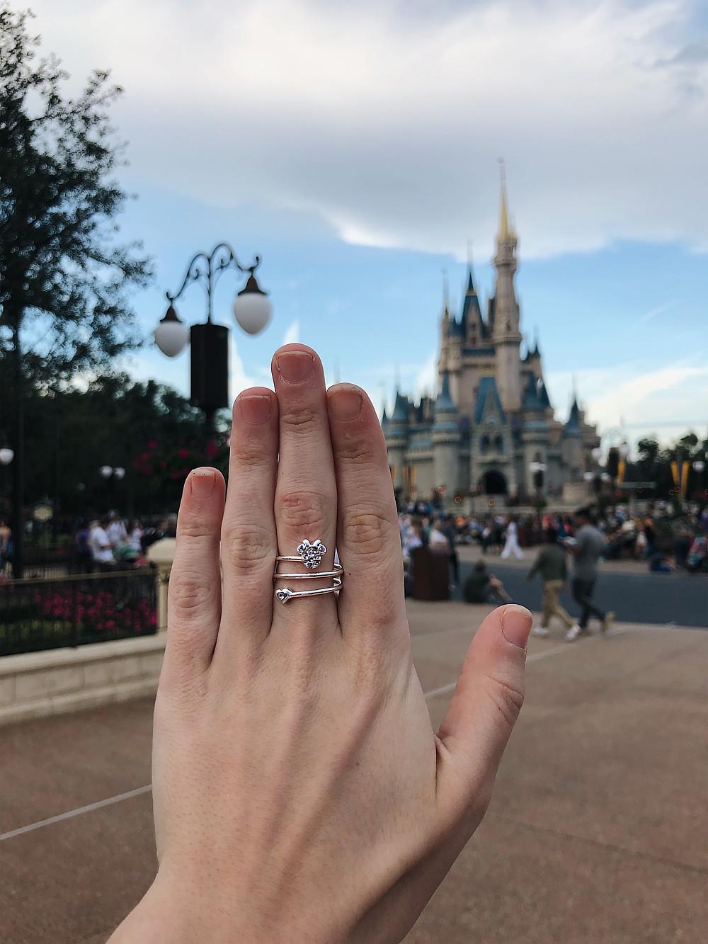 June Birthstone ring, disney castle, disney ring